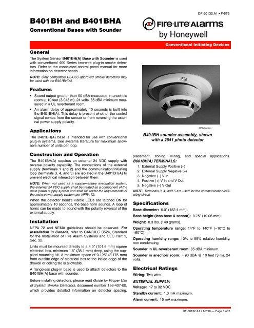 Data Sheet Df 60132 Pdf Fire Lite Alarms