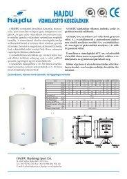 Vízmelegíő készülékek letölthető katalógus