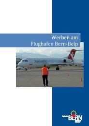 Werben am Flughafen Bern- Belp