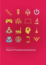 Report of the Research Prioritisation Steering Group - Department of ...