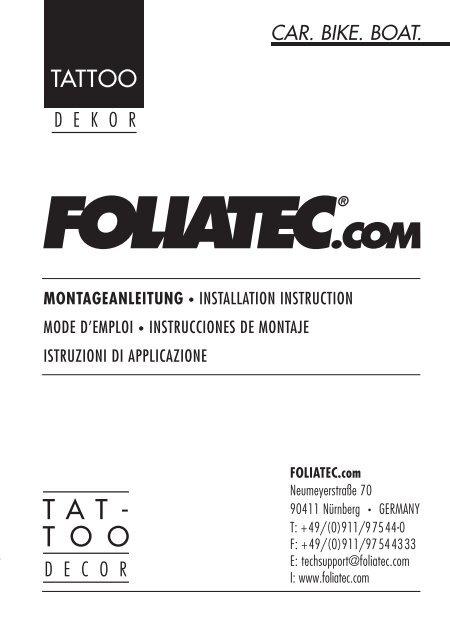 TAT- T O O - Foliatec