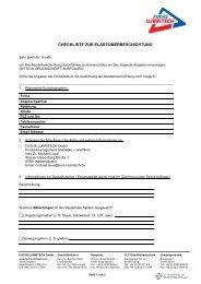 Checkliste zur Elastomerbeschichtung - FUCHS LUBRITECH GmbH