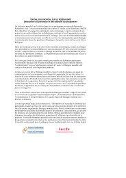 Description du processus et des objectifs du programme Un ...