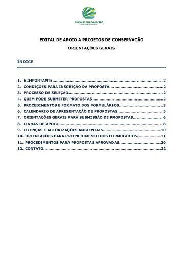 Orientacoes para inscricao de propostas_Formulario Access