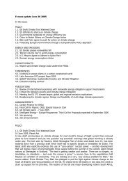 E-news update June 20 2005 In this issue: POLICY 1.1. G8 Draft ...