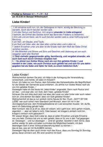 Liebe Kinder! - Evangelische Brüdergemeinde Wilhelmsdorf