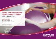 Group exercise timetables Croydon leisure centres - Fusion Lifestyle