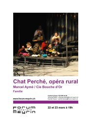 Chat Perché, opéra rural - Forum-Meyrin