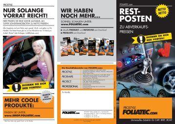 REST- POSTEN - Foliatec