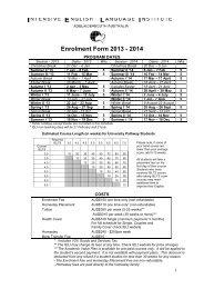 Enrolment Form 2013 - 2014
