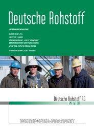 Wertpapierprospekt Deutsche Rohstoffe AG - Cortal Consors