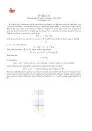 Wykład 15 - Funkcje holomorficzne