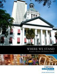 2007 Where We Stand - Florida Chamber of Commerce