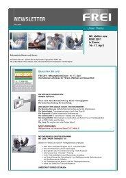 Newsletter März 2011 - Frei AG