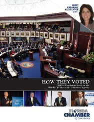 2011 HOW THEY VOTED.indd - Florida Chamber of Commerce