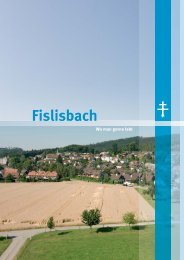 Fislisbach «wo man gerne lebt» - Gemeinde Fislisbach