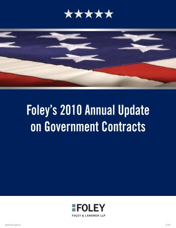 Foley's 2010 Annual Update on Government Contracts