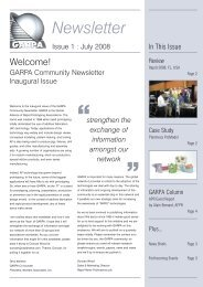 Garpa newsletter Issue 1 - Global Alliance of Rapid Prototyping ...