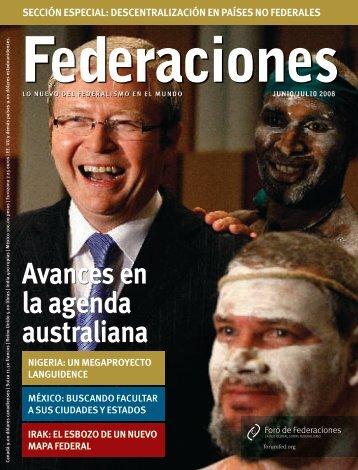 Avances en la agenda australiana - Forum of Federations
