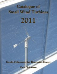 Catalogue of Small Wind Turbines - 2011 - Nordic Folkecenter for ...