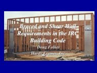 Braced and Shear Wall Requirements int he IRC Building Code