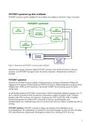 FOT2007 systemet og dets snitflader - FOTdanmark