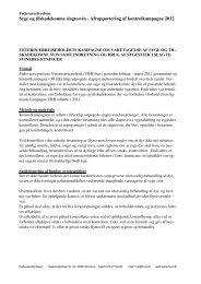 Afrapportering af kontrolkampagne 2012 - Fødevarestyrelsen