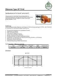 Ölbrenner Type: BT 75 A2 - Garvens