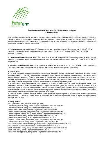Úplná pravidla a podmínky akce OC Futurum Kolín s názvem ...