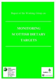 Report of the Working Group on Monitoring Scottish Dietary Targets