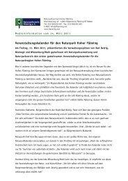 Veranstaltungskalender für den Naturpark Hoher Fläming
