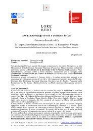LORE BERT - Galerie Dorothea van der Koelen