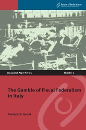 The Gamble of Fiscal Federalism in Italy - Forum of Federations