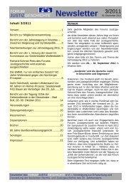 Newsletter Nr. 3 / 2011 - Forum Justizgeschichte eV