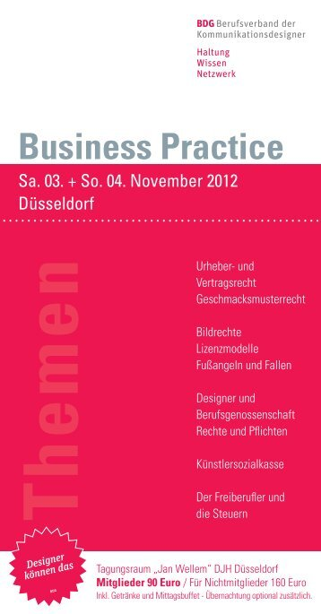 Business Practice - BDG Bund Deutscher Grafik-Designer e.V.