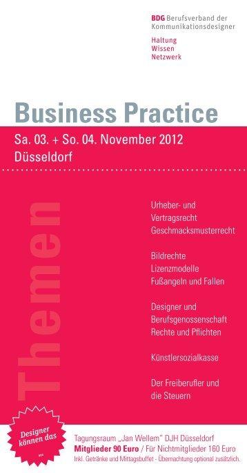 Business Practice - BDG Bund Deutscher Grafik-Designer e.V.