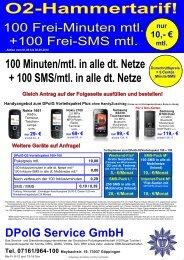 O2-Hammertarif! - DPolG Service GmbH
