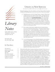 libnotes #22-1 - Galter Health Sciences Library - Northwestern ...