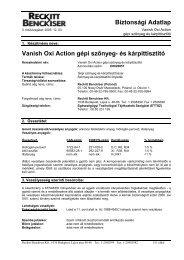 VANISH OxiAction gépi szőnyegtisztító - Galatea Kft.