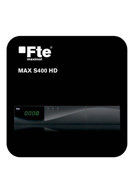 MAX S400 HD EN V1.1 - FTE Maximal