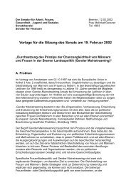 Senatsbeschluss Gender Mainstreaming vom 12.02.2002