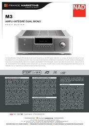 Fiche Technique NAD M3.pdf - France Marketing