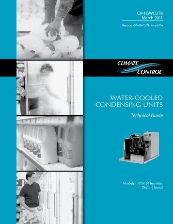 Water-cooled condensing Units