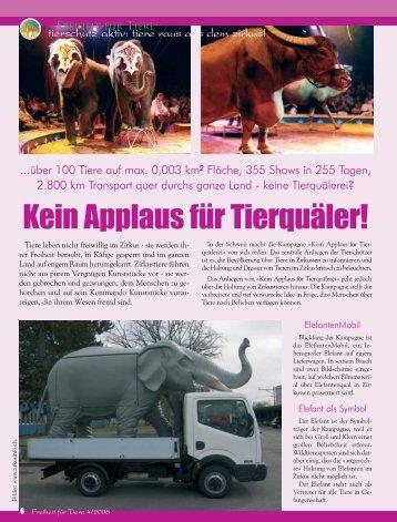 Freiheit für Tiere 4-2008 01-08-2008 Druck.qxd - Magazin Freiheit ...