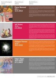 13.5.2012 Edgar Degas 30.9.2012 - Fondation Beyeler