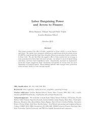 Labor Bargaining Power and Access to Finance - University of ...