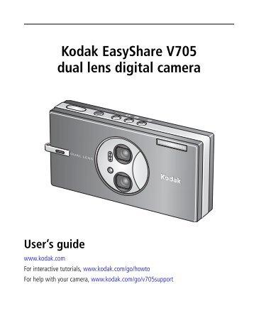 Kodak EasyShare V705 dual lens digital camera