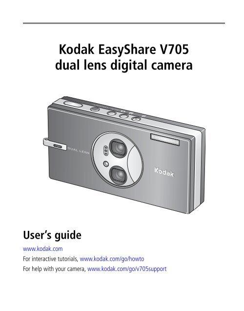 KODAK EASYSHARE V705 DRIVER DOWNLOAD