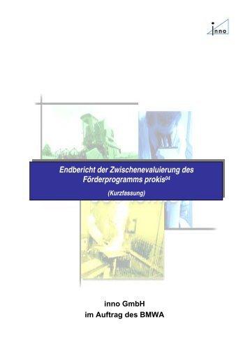 Endbericht der Zwischenevaluierung des Förderprogramms ... - fteval