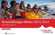 Veranstaltungen Winter 2011/2012 - Flumserberg